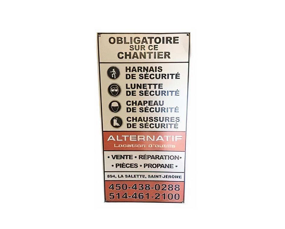 Pancarte de chantier alternatif