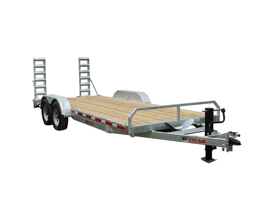 Remorque plateforme 8000 lbs 7pi par 14pi