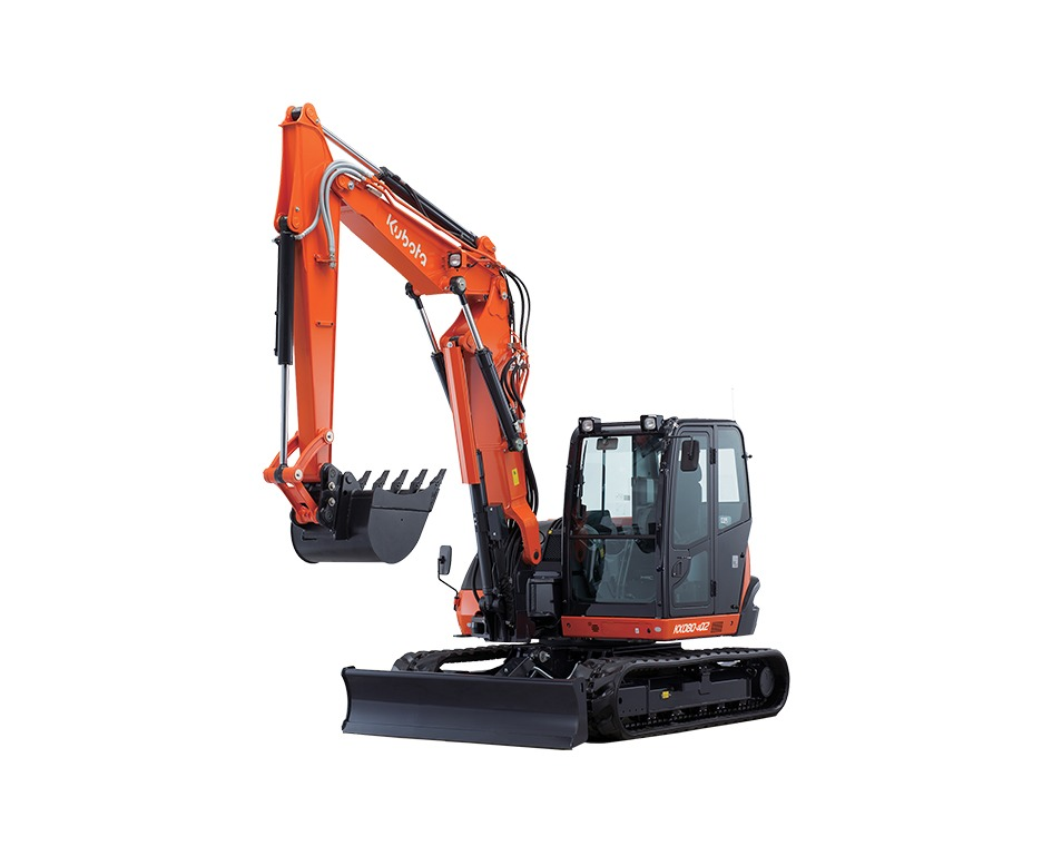 Excavatrice kx080 avec pouce acier