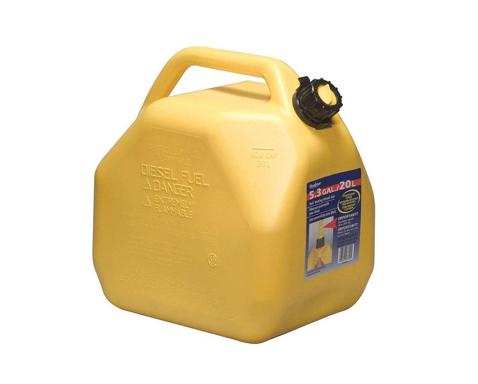 Bidon diesel 20 litres jaune