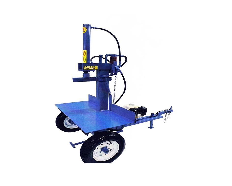 Fendeuse bleue verticale avec suspension